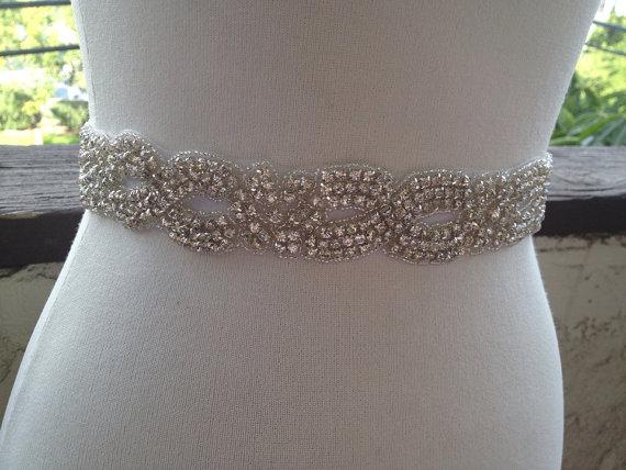Mariage - Beaded  Wedding Sash,Wedding Belt Sash , Best Seller Bridal Belt ,Wedding Sash, Beaded Bridal Crystal  Sash,