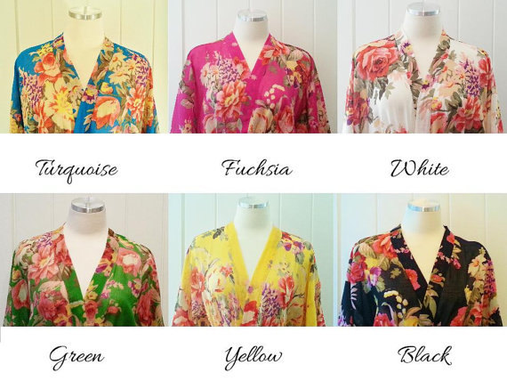 SALE! BRIDESMAIDS ROBES, Ships Immediately From Usa, Shabby Chic ...