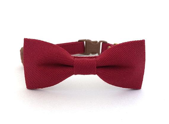 زفاف - Burgundy Dog Cat Bow Tie Collar