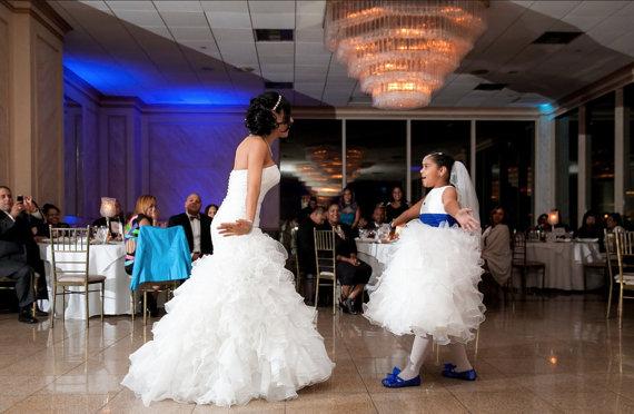 e70bbaa8e469f Blue GLITTERED BALLET Flat;WEDDING Shoes; Flower Girl Shoes; Pageant ...