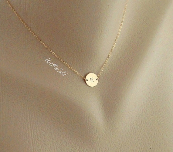 Monogram necklace gold initial disc charm necklace birthday monogram necklace gold initial disc charm necklace birthday bridesmaid gifts mothers jewelry child family personalized jewelry aloadofball Image collections