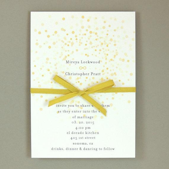 Mariage - Mireya Suite - Watercolor Starburst Wedding Invitation - Modern Infinity Symbol Invite - Customizable Wedding Invitation - Sample Set