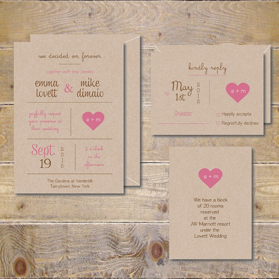 printable wedding invitations . diy wedding invitations . rustic, Birthday invitations
