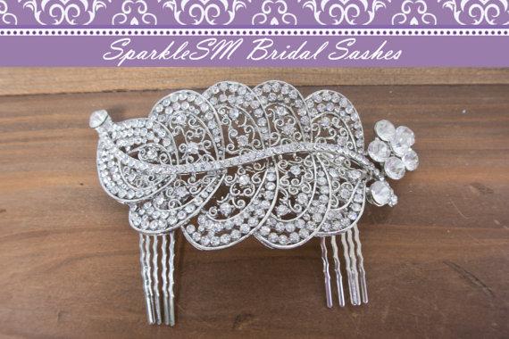 Wedding - Rhinestone Comb, Crystal Beaded Bridal Comb, Wedding Hair Accessory, Rhinestone Bridal Comb, Wedding Bridal Accessories, SparkleSM Bridal