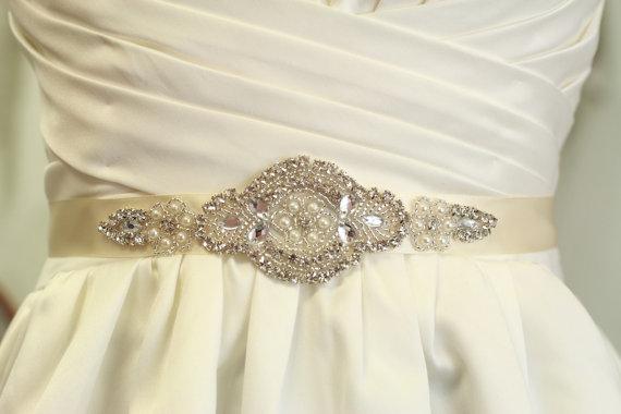 Wedding - SALE - Rhinestones Sash, Wedding Dress Belt - Bridesmaid Sash, Bridesmaid Gift