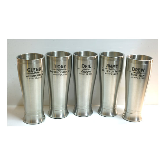 Stainless Steel Tumbler Personalized Beer Gles Wedding Party Gifts Best Man Gift Groomsmen Pilsner Set Of 3