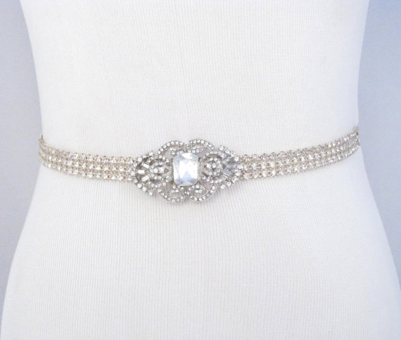 Bridal sash rhinestone wedding belt crystal dress sash for Sparkly belt for wedding dress