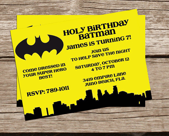 printable batman invitation super hero birthday invitation