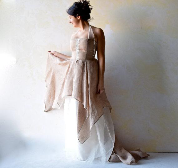 Wedding Dress, Woodland Wedding Dress, Wedding Gown, Fairy Wedding ...