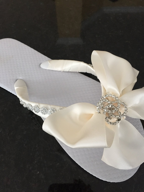 Wedding Flip Flops.Bridal Flip Flops. Platform Flip Flops.Bridal ...