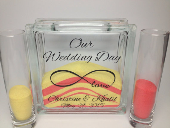 Unity Sand Wedding Ceremony Set Personalized Beach Wedding Decor Unity Candle Alternative