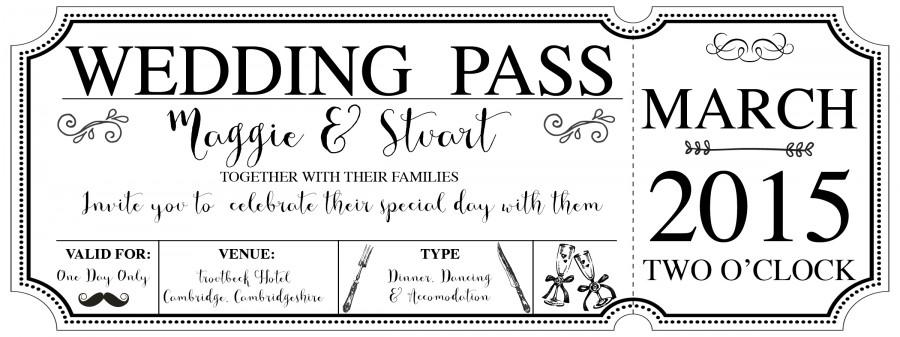 Vintage Wedding Vintage Boarding Pass Wedding Invitation - Boarding pass wedding invitation template