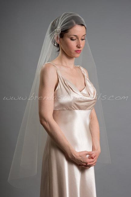Свадьба - Great Gatsby Wedding Veil, 1920s Inspired Bridal Veil, Art Deco Juliet Cap Veil - Ashana