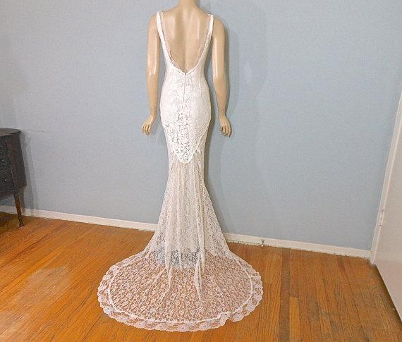 Romantic lace wedding gown blush bohemian wedding dress for Romantic bohemian wedding dresses