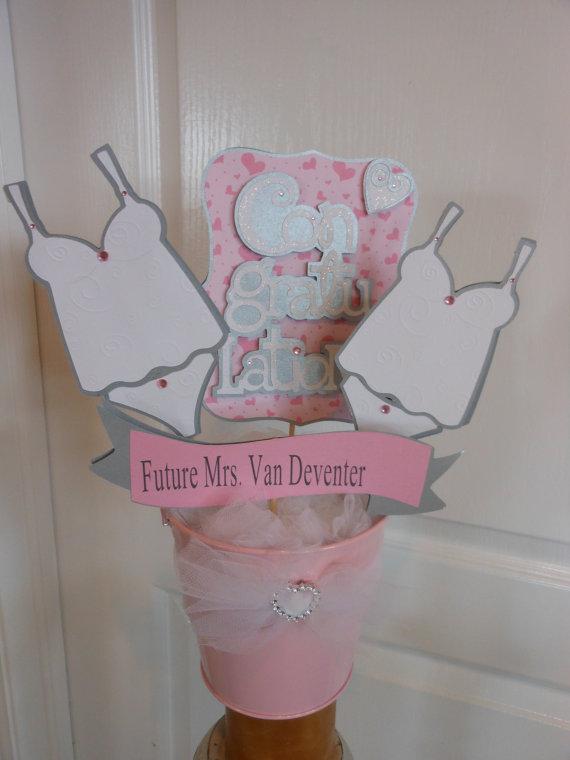 bridal lingerie shower centerpiece