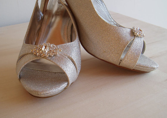 wedding rhinestone wedding shoe clips bridal shoeclips crystal shoes