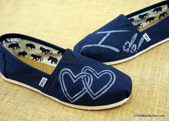 Свадьба - Wedding Custom TOMS Shoes