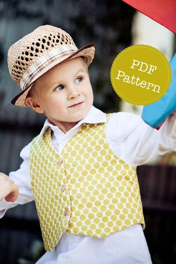 PDF Sewing Pattern For Little Lads  Reversible Vest 29e661e1278a