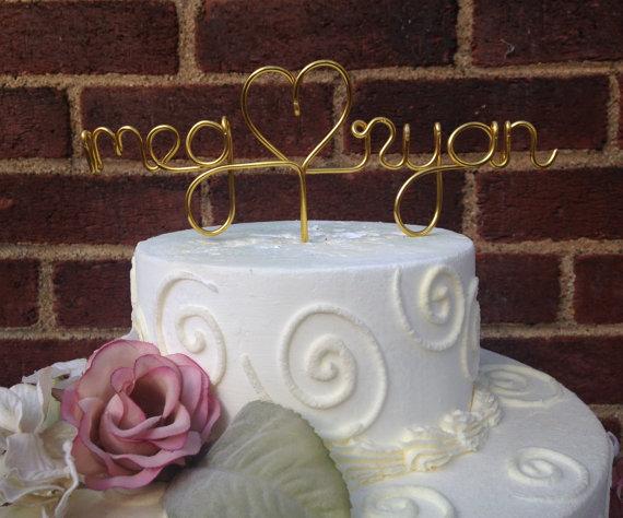 Weddingwire Custom Cake Design : Custom Cake Topper - Wedding Cake Topper, Wire Cake Topper ...