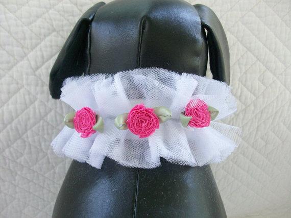 Свадьба - Dog Wedding Collar Great  Wedding  or Adoption Dog Cat Custom Order