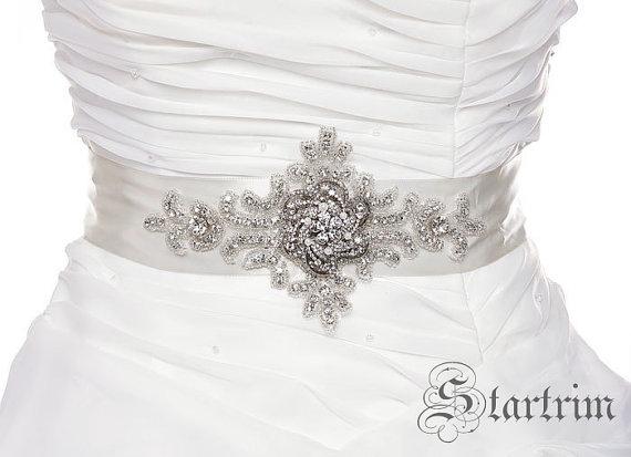 Свадьба - SALE SUE crystal beaded wedding bridal sash belt