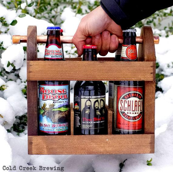 Свадьба - Beer - Best Man Gift -Home Brew Six Pack Carrier - Wooden Six Pack - Beer Caddy - Bottle Opener  - Men - Groomsmen Gift