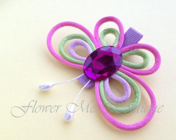 butterfly hair bows hair flower girl hair