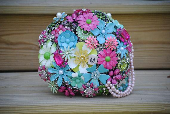 زفاف - Custom Order Brooch Bridal Bouquet