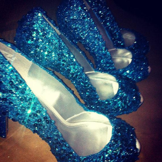 something blue wedding shoes for the bride or bridesmaids any colorstyle turquoise shown