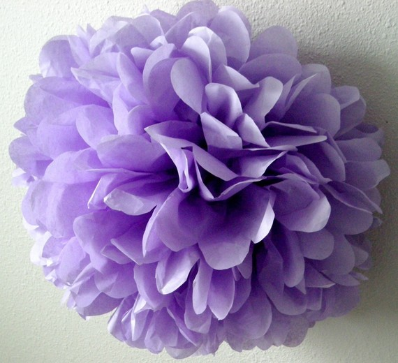 Lavender 1 Tissue Paper Pom Wedding Decorations Diy