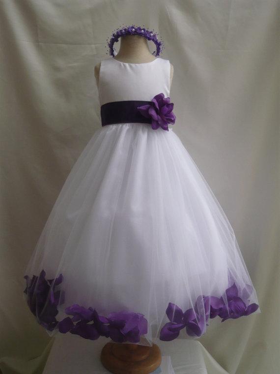 Flower Girl Dress White Rose Petal Dress With Blue Royal Wedding Easter Junior Bridesmaid Formal Girl Dress Recital Fgpt 2224077 Weddbook,Camo Wedding Dress Orange