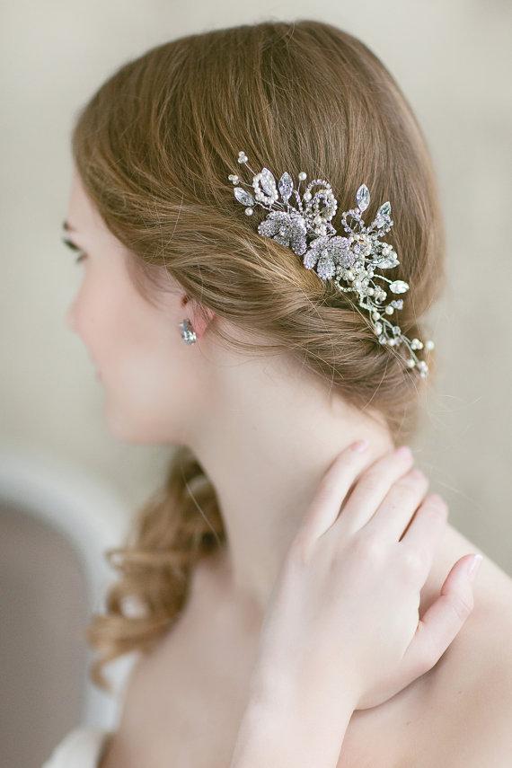 Свадьба - Bridal Headpiece  -  Wedding Floral Hairpiece