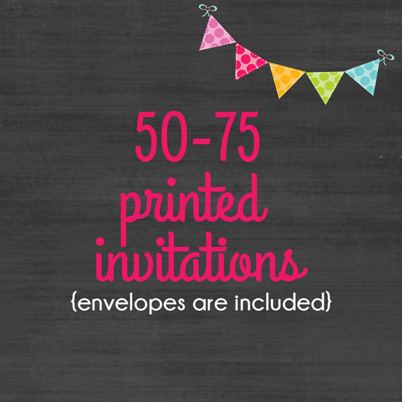 Wedding - 50-100 Professionally Printed 4x6 or 5x7 Invitations * Envelopes Included * Option available for printed matching address labels