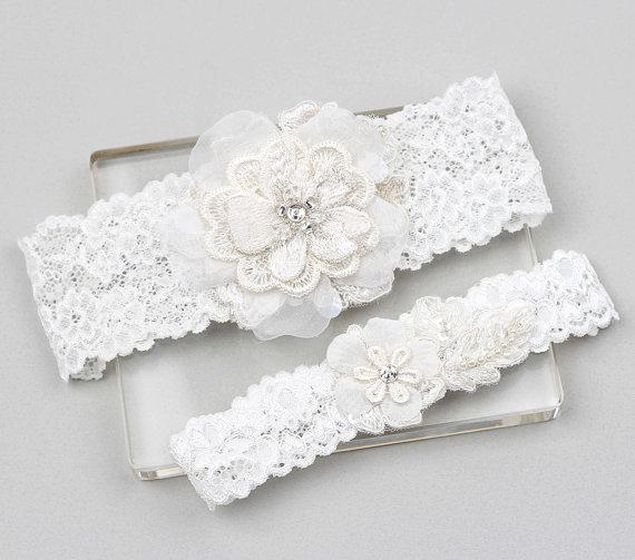 Lace Garter Set Wedding Garter Set Bridal Garter Set Wedding