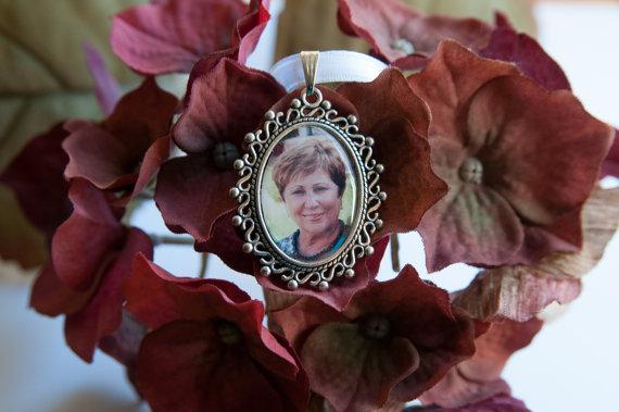 زفاف - Wedding Bouquet Charm, Memorial Bridal Charm, Custom Photo Wedding Charm