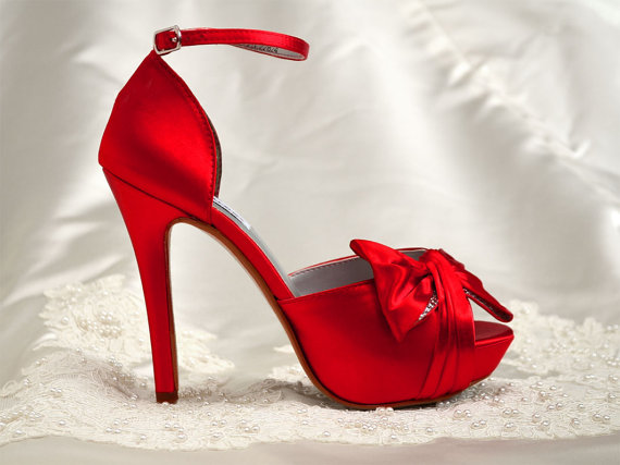 Red Wedding Shoes, Bridal Shoes 4