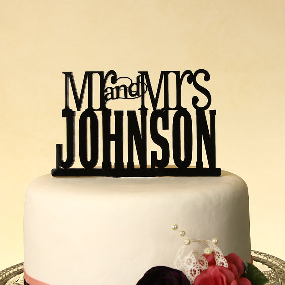Wedding Cake Topper Mr. And Mrs. Personalized \