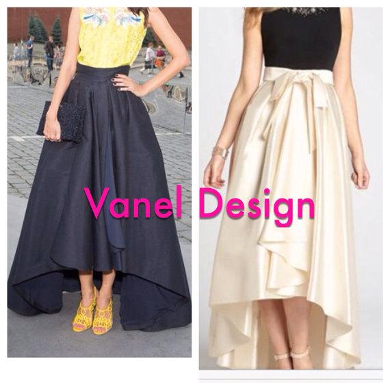 Mariage - Bridesmaid Maxi Skirt with Sash Romantic Black Long Skirt Pockets Elegant skirt Famous Black Formal Skirt, Pleated skirt