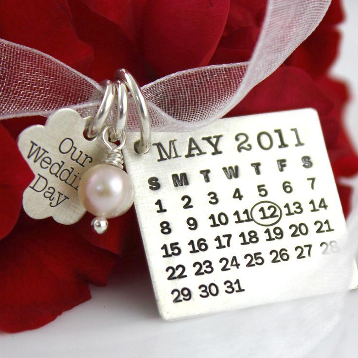 Wedding - Mark Your Calendar Bouquet Charm And Necklace By Punky Jane