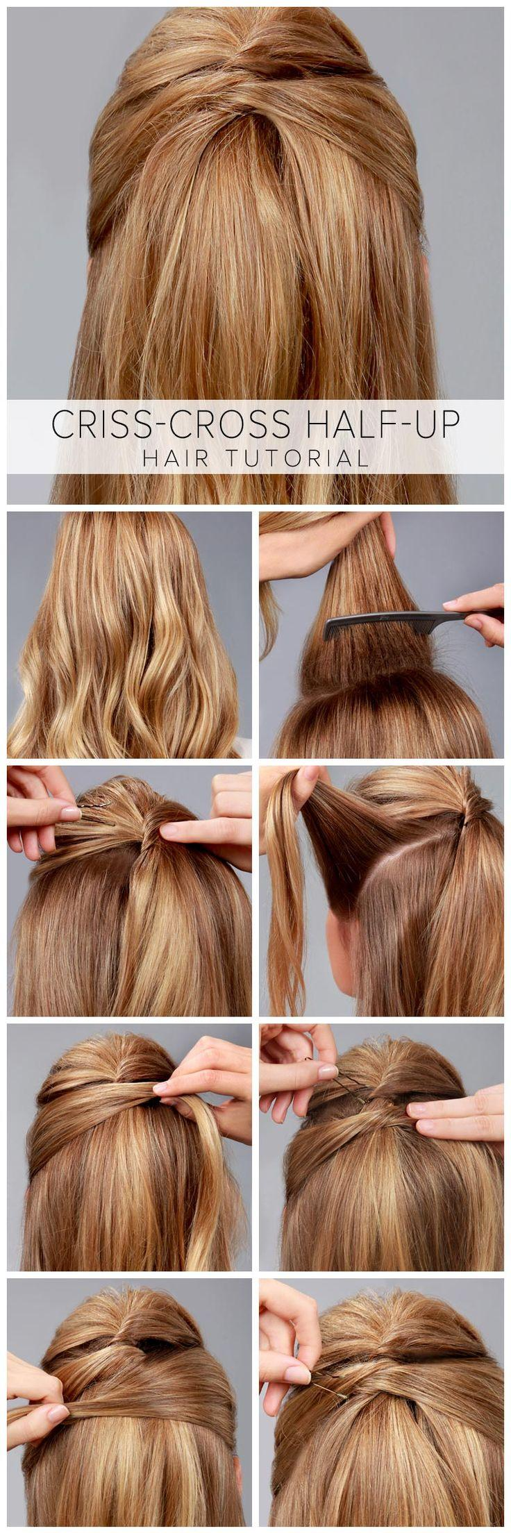 Свадьба - LuLu*s How-To: Criss-Cross Half-Up Hair Tutorial