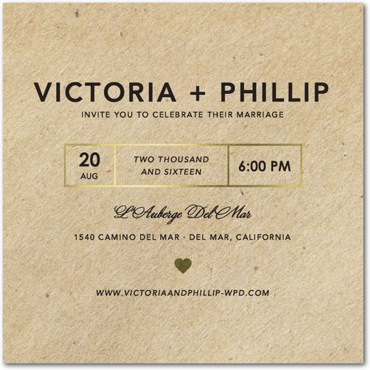 Mariage - Krafted Love - Signature Foil Wedding Invitations In Black Or Rich Red