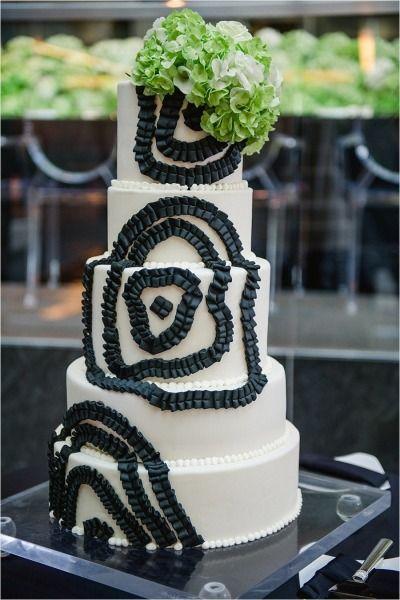 Wedding - Whimsical Black   Green Winter Wedding