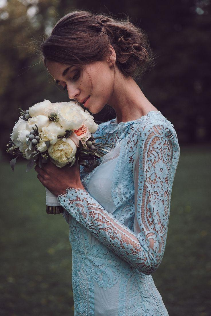 Rhapsody In Blue: Pale Blue Wedding Dresses By Katya Katya ...