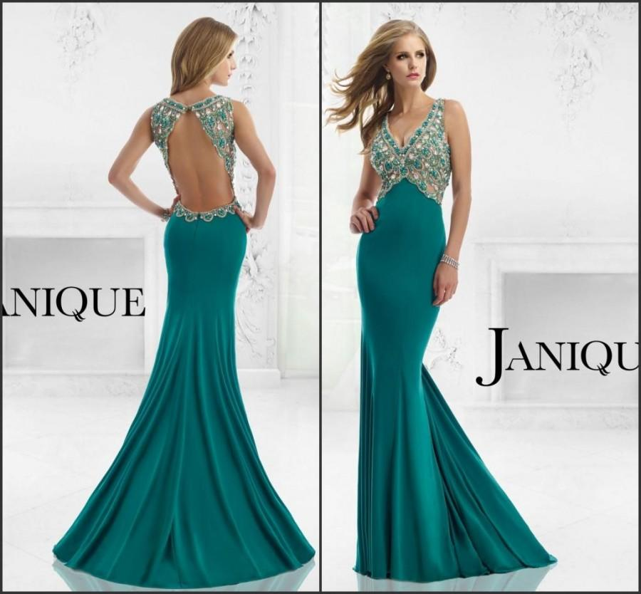 Mariage - Remarkable 2015 Evening Dresses Mermaid Party V-Neck Stones Beads Crystal Long Prom Dresses Gowns Rhinestone Backless Vestido De Fiesta, $120.14