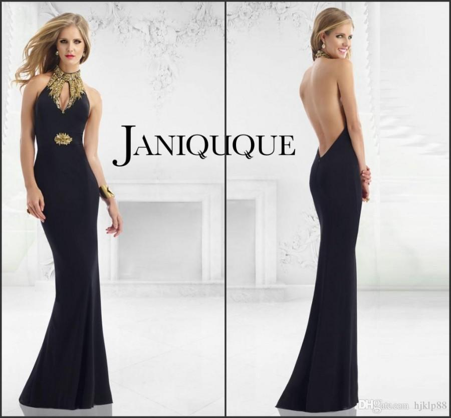 Evening dress long backless evening