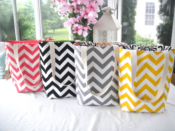 Design Your Own Reversible Chevron Tote Bags, New Fabrics