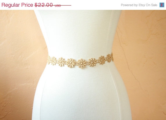 Mariage - SALE Gold Bridal/Bridesmaid Sash