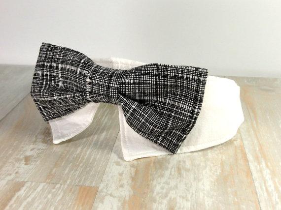 زفاف - Formal Shirt Collar Dog Bowtie - Dog Bowtie Shirt Collar - Wedding Dog Collar Bowtie - Special Occasion Dog Collar with Bow Tie