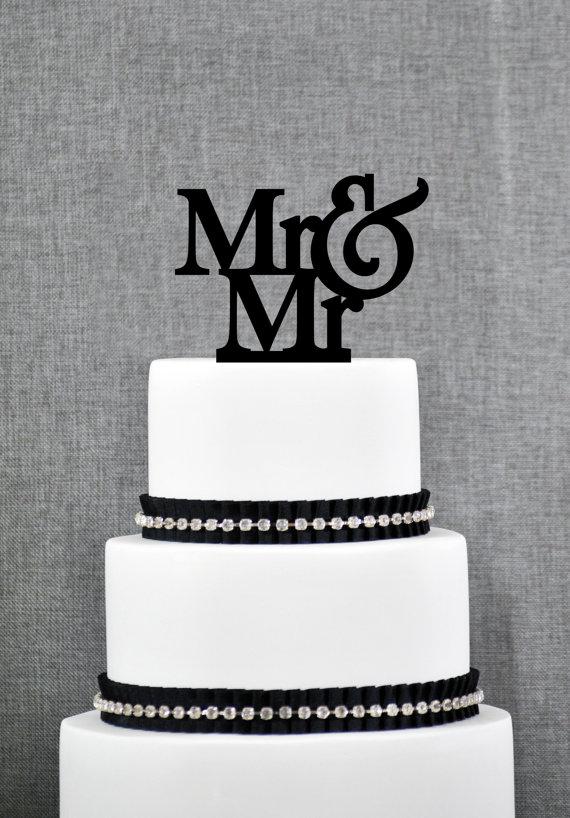 زفاف - Mr and Mr Same Sex Wedding Cake Topper, Traditional and Elegant Wedding Cake Toppers in your Choice of Color, Modern Wedding Cake Topper