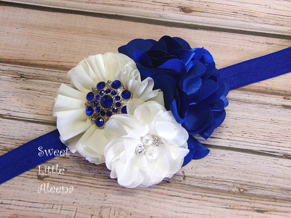 Royal Blue Ivory Headband 5b224e06a1a